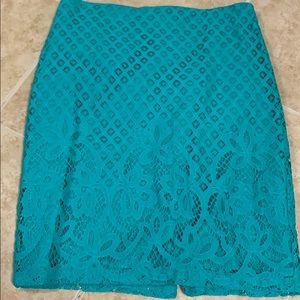 LOfT Teal Skirt
